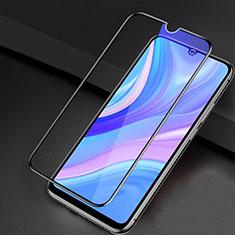 Schutzfolie Full Coverage Displayschutzfolie Panzerfolie Gehärtetes Glas Glasfolie Anti Blue Ray Skins zum Aufkleben Panzerglas für Huawei Y8p Schwarz