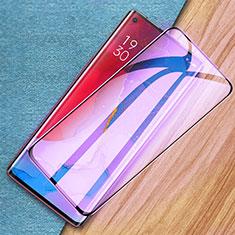 Schutzfolie Full Coverage Displayschutzfolie Panzerfolie Gehärtetes Glas Glasfolie Anti Blue Ray Skins zum Aufkleben Panzerglas für Oppo Find X2 Neo Schwarz