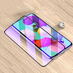 Schutzfolie Full Coverage Displayschutzfolie Panzerfolie Gehärtetes Glas Glasfolie Anti Blue Ray Skins zum Aufkleben Panzerglas für Samsung Galaxy M51 Schwarz