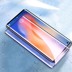 Schutzfolie Full Coverage Displayschutzfolie Panzerfolie Gehärtetes Glas Glasfolie Anti Blue Ray Skins zum Aufkleben Panzerglas für Vivo X51 5G Schwarz