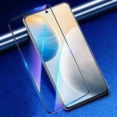 Schutzfolie Full Coverage Displayschutzfolie Panzerfolie Gehärtetes Glas Glasfolie Anti Blue Ray Skins zum Aufkleben Panzerglas für Vivo X60 5G Schwarz