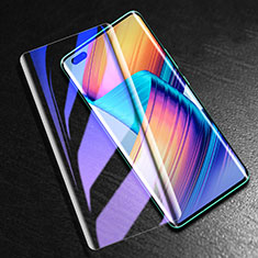 Schutzfolie Full Coverage Displayschutzfolie Panzerfolie Gehärtetes Glas Glasfolie Anti Blue Ray Skins zum Aufkleben Panzerglas K02 für Huawei Nova 7 Pro 5G Schwarz