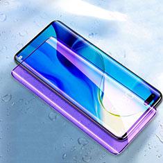 Schutzfolie Full Coverage Displayschutzfolie Panzerfolie Gehärtetes Glas Glasfolie Anti Blue Ray Skins zum Aufkleben Panzerglas K03 für Huawei Nova 7 Pro 5G Schwarz