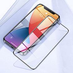 Schutzfolie Full Coverage Displayschutzfolie Panzerfolie Gehärtetes Glas Glasfolie Skins zum Aufkleben Panzerglas F02 für Apple iPhone 12 Pro Schwarz