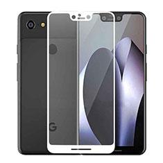 Schutzfolie Full Coverage Displayschutzfolie Panzerfolie Gehärtetes Glas Glasfolie Skins zum Aufkleben Panzerglas F02 für Google Pixel 3 XL Weiß