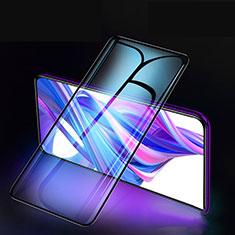 Schutzfolie Full Coverage Displayschutzfolie Panzerfolie Gehärtetes Glas Glasfolie Skins zum Aufkleben Panzerglas F02 für Huawei Honor 9X Schwarz