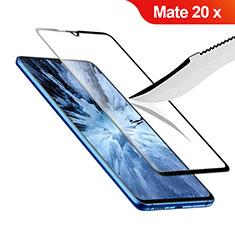 Schutzfolie Full Coverage Displayschutzfolie Panzerfolie Gehärtetes Glas Glasfolie Skins zum Aufkleben Panzerglas F02 für Huawei Mate 20 X 5G Schwarz