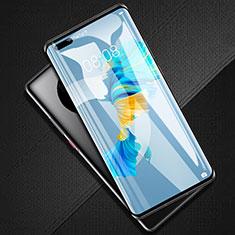 Schutzfolie Full Coverage Displayschutzfolie Panzerfolie Gehärtetes Glas Glasfolie Skins zum Aufkleben Panzerglas F02 für Huawei Mate 40 Pro+ Plus Schwarz