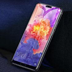 Schutzfolie Full Coverage Displayschutzfolie Panzerfolie Gehärtetes Glas Glasfolie Skins zum Aufkleben Panzerglas F02 für Huawei P20 Pro Schwarz