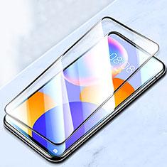 Schutzfolie Full Coverage Displayschutzfolie Panzerfolie Gehärtetes Glas Glasfolie Skins zum Aufkleben Panzerglas F02 für Huawei Y9a Schwarz