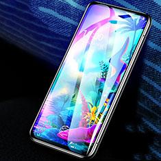 Schutzfolie Full Coverage Displayschutzfolie Panzerfolie Gehärtetes Glas Glasfolie Skins zum Aufkleben Panzerglas F02 für LG G8X ThinQ Schwarz