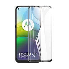 Schutzfolie Full Coverage Displayschutzfolie Panzerfolie Gehärtetes Glas Glasfolie Skins zum Aufkleben Panzerglas F02 für Motorola Moto G9 Power Schwarz