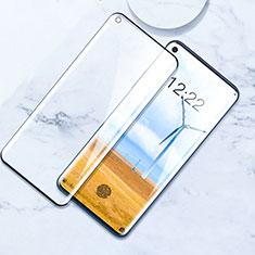 Schutzfolie Full Coverage Displayschutzfolie Panzerfolie Gehärtetes Glas Glasfolie Skins zum Aufkleben Panzerglas F02 für OnePlus 8 Schwarz