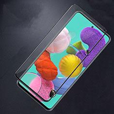 Schutzfolie Full Coverage Displayschutzfolie Panzerfolie Gehärtetes Glas Glasfolie Skins zum Aufkleben Panzerglas F02 für Samsung Galaxy A51 5G Schwarz