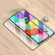 Schutzfolie Full Coverage Displayschutzfolie Panzerfolie Gehärtetes Glas Glasfolie Skins zum Aufkleben Panzerglas F02 für Samsung Galaxy M51 Schwarz