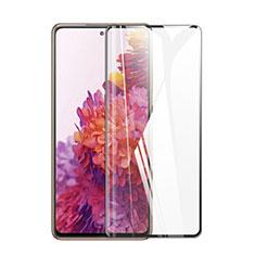 Schutzfolie Full Coverage Displayschutzfolie Panzerfolie Gehärtetes Glas Glasfolie Skins zum Aufkleben Panzerglas F02 für Samsung Galaxy S20 FE 5G Schwarz