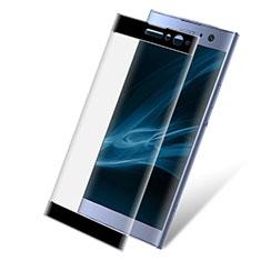 Schutzfolie Full Coverage Displayschutzfolie Panzerfolie Gehärtetes Glas Glasfolie Skins zum Aufkleben Panzerglas F02 für Sony Xperia XA2 Plus Schwarz