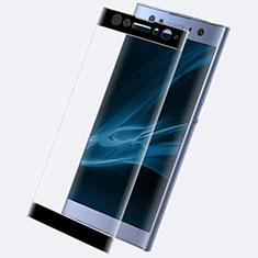Schutzfolie Full Coverage Displayschutzfolie Panzerfolie Gehärtetes Glas Glasfolie Skins zum Aufkleben Panzerglas F02 für Sony Xperia XA2 Ultra Schwarz