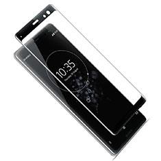 Schutzfolie Full Coverage Displayschutzfolie Panzerfolie Gehärtetes Glas Glasfolie Skins zum Aufkleben Panzerglas F02 für Sony Xperia XZ3 Schwarz
