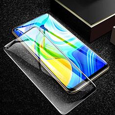 Schutzfolie Full Coverage Displayschutzfolie Panzerfolie Gehärtetes Glas Glasfolie Skins zum Aufkleben Panzerglas F02 für Xiaomi Redmi Note 9 Schwarz