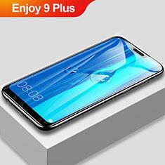 Schutzfolie Full Coverage Displayschutzfolie Panzerfolie Gehärtetes Glas Glasfolie Skins zum Aufkleben Panzerglas F03 für Huawei Enjoy 9 Plus Schwarz