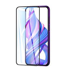 Schutzfolie Full Coverage Displayschutzfolie Panzerfolie Gehärtetes Glas Glasfolie Skins zum Aufkleben Panzerglas F03 für Huawei Honor 9X Schwarz