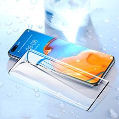 Schutzfolie Full Coverage Displayschutzfolie Panzerfolie Gehärtetes Glas Glasfolie Skins zum Aufkleben Panzerglas F03 für Huawei P40 Pro+ Plus Schwarz
