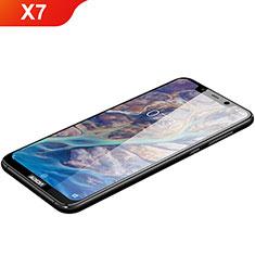 Schutzfolie Full Coverage Displayschutzfolie Panzerfolie Gehärtetes Glas Glasfolie Skins zum Aufkleben Panzerglas F03 für Nokia X7 Schwarz