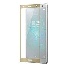 Schutzfolie Full Coverage Displayschutzfolie Panzerfolie Gehärtetes Glas Glasfolie Skins zum Aufkleben Panzerglas F03 für Sony Xperia XZ2 Premium Gold