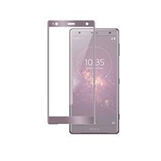 Schutzfolie Full Coverage Displayschutzfolie Panzerfolie Gehärtetes Glas Glasfolie Skins zum Aufkleben Panzerglas F03 für Sony Xperia XZ2 Premium Rosegold