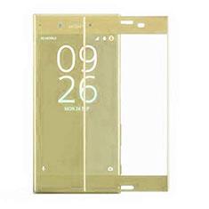 Schutzfolie Full Coverage Displayschutzfolie Panzerfolie Gehärtetes Glas Glasfolie Skins zum Aufkleben Panzerglas F03 für Sony Xperia XZ4 Gold