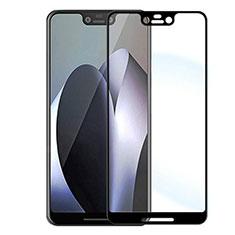 Schutzfolie Full Coverage Displayschutzfolie Panzerfolie Gehärtetes Glas Glasfolie Skins zum Aufkleben Panzerglas F04 für Google Pixel 3 XL Schwarz