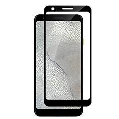 Schutzfolie Full Coverage Displayschutzfolie Panzerfolie Gehärtetes Glas Glasfolie Skins zum Aufkleben Panzerglas F04 für Google Pixel 3a Schwarz