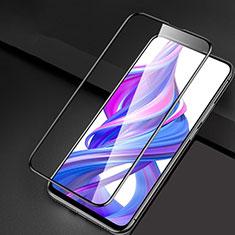 Schutzfolie Full Coverage Displayschutzfolie Panzerfolie Gehärtetes Glas Glasfolie Skins zum Aufkleben Panzerglas F04 für Huawei Honor 9X Pro Schwarz