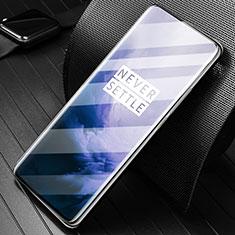 Schutzfolie Full Coverage Displayschutzfolie Panzerfolie Gehärtetes Glas Glasfolie Skins zum Aufkleben Panzerglas F04 für OnePlus 7 Pro Schwarz