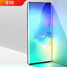 Schutzfolie Full Coverage Displayschutzfolie Panzerfolie Gehärtetes Glas Glasfolie Skins zum Aufkleben Panzerglas F04 für Samsung Galaxy S10 Schwarz