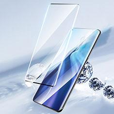 Schutzfolie Full Coverage Displayschutzfolie Panzerfolie Gehärtetes Glas Glasfolie Skins zum Aufkleben Panzerglas F04 für Xiaomi Mi 11 5G Schwarz