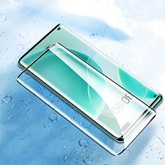Schutzfolie Full Coverage Displayschutzfolie Panzerfolie Gehärtetes Glas Glasfolie Skins zum Aufkleben Panzerglas F05 für Huawei Nova 8 Pro 5G Schwarz