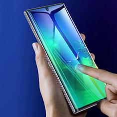 Schutzfolie Full Coverage Displayschutzfolie Panzerfolie Gehärtetes Glas Glasfolie Skins zum Aufkleben Panzerglas F05 für Samsung Galaxy Note 10 Plus Schwarz
