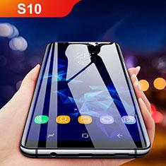 Schutzfolie Full Coverage Displayschutzfolie Panzerfolie Gehärtetes Glas Glasfolie Skins zum Aufkleben Panzerglas F05 für Samsung Galaxy S10 5G Schwarz