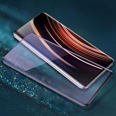 Schutzfolie Full Coverage Displayschutzfolie Panzerfolie Gehärtetes Glas Glasfolie Skins zum Aufkleben Panzerglas F06 für OnePlus 7T Pro Schwarz