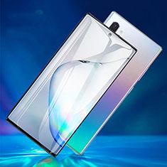 Schutzfolie Full Coverage Displayschutzfolie Panzerfolie Gehärtetes Glas Glasfolie Skins zum Aufkleben Panzerglas F06 für Samsung Galaxy Note 10 Plus Schwarz