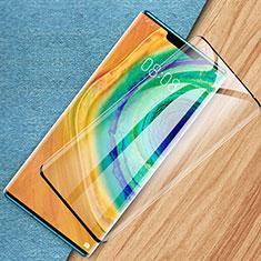 Schutzfolie Full Coverage Displayschutzfolie Panzerfolie Gehärtetes Glas Glasfolie Skins zum Aufkleben Panzerglas F07 für Huawei Mate 30 Pro 5G Schwarz