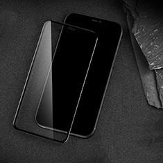 Schutzfolie Full Coverage Displayschutzfolie Panzerfolie Gehärtetes Glas Glasfolie Skins zum Aufkleben Panzerglas für Apple iPhone 12 Pro Max Schwarz