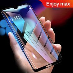 Schutzfolie Full Coverage Displayschutzfolie Panzerfolie Gehärtetes Glas Glasfolie Skins zum Aufkleben Panzerglas für Huawei Enjoy Max Schwarz