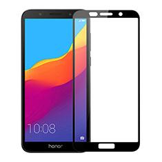 Schutzfolie Full Coverage Displayschutzfolie Panzerfolie Gehärtetes Glas Glasfolie Skins zum Aufkleben Panzerglas für Huawei Honor Play 7 Schwarz