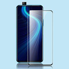 Schutzfolie Full Coverage Displayschutzfolie Panzerfolie Gehärtetes Glas Glasfolie Skins zum Aufkleben Panzerglas für Huawei Honor X10 5G Schwarz