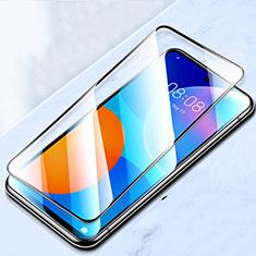 Schutzfolie Full Coverage Displayschutzfolie Panzerfolie Gehärtetes Glas Glasfolie Skins zum Aufkleben Panzerglas für Huawei P Smart (2021) Schwarz