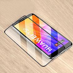 Schutzfolie Full Coverage Displayschutzfolie Panzerfolie Gehärtetes Glas Glasfolie Skins zum Aufkleben Panzerglas für Huawei Y5p Schwarz