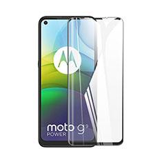 Schutzfolie Full Coverage Displayschutzfolie Panzerfolie Gehärtetes Glas Glasfolie Skins zum Aufkleben Panzerglas für Motorola Moto G9 Power Schwarz